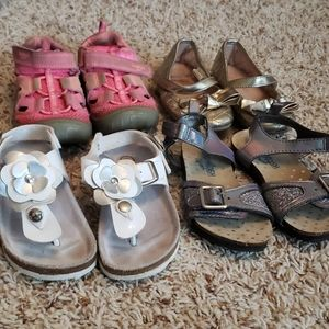 Lot of Toddler Girl's Size 7 Shoes